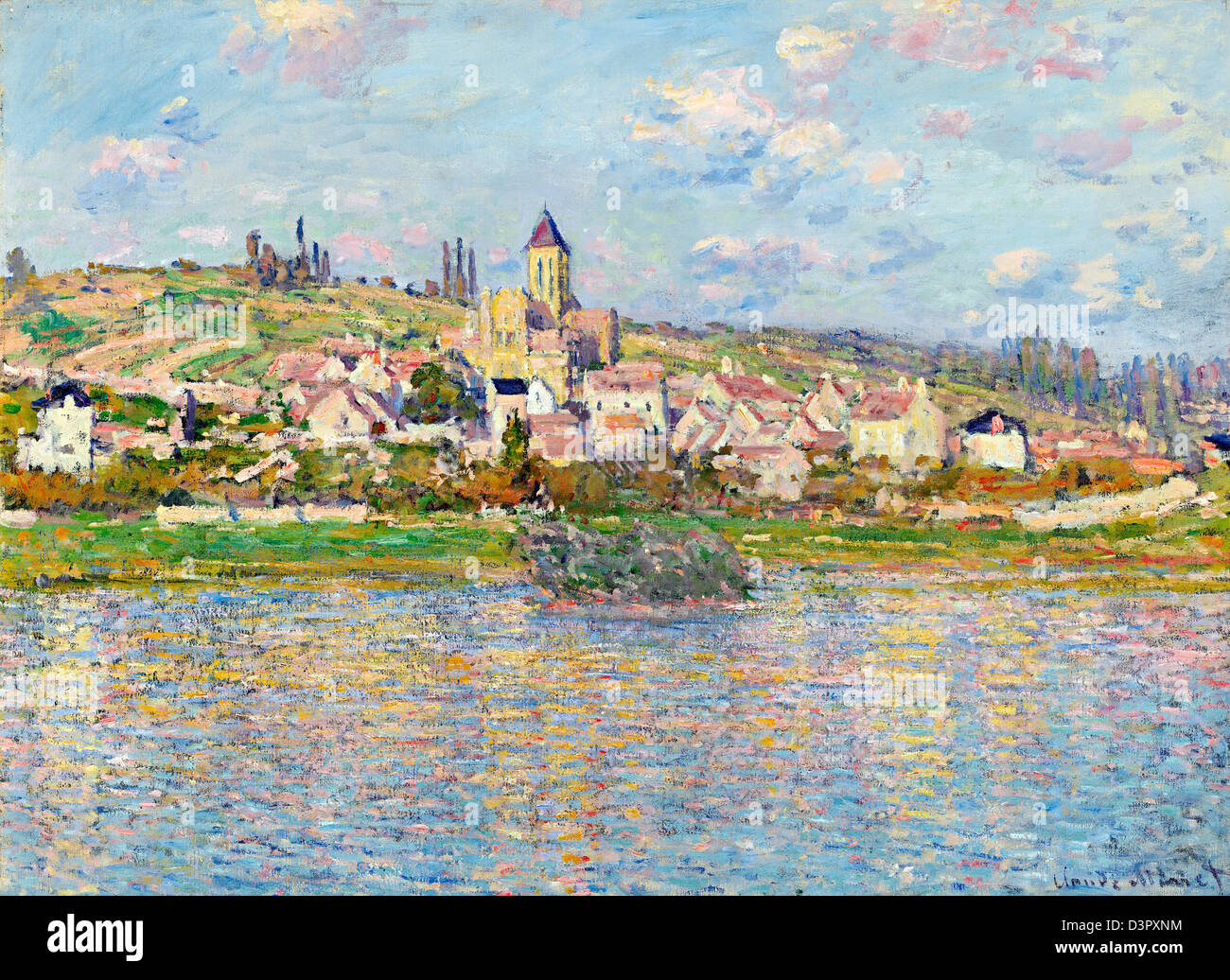 Claude Monet, Vetheuil 1879 Oil on canvas. National Gallery of Victoria, Australia - Stock Image