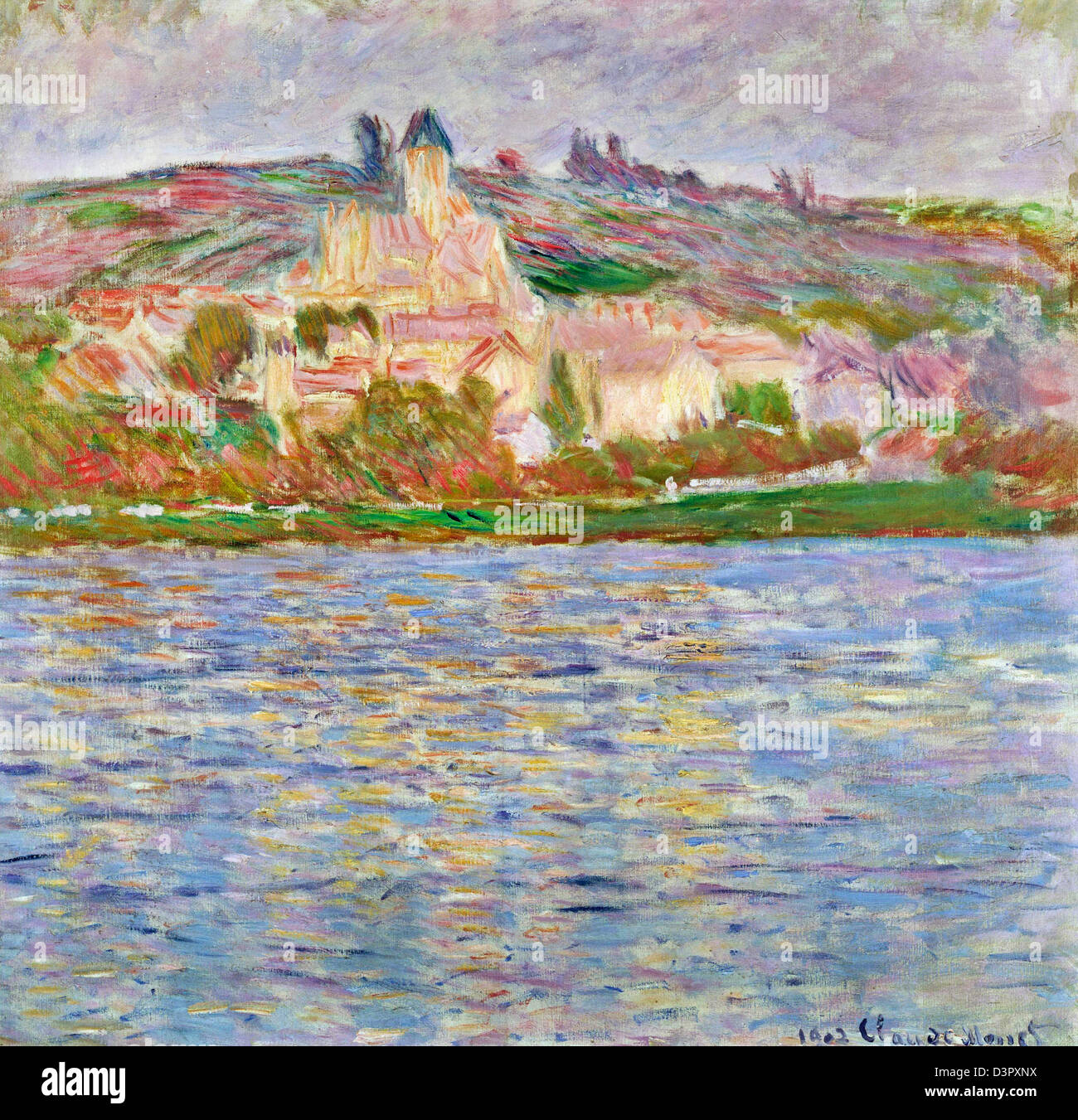 Claude Monet, Vetheuil 1902 Oil on canvas. National Museum of Western Art, Tokyo - Stock Image