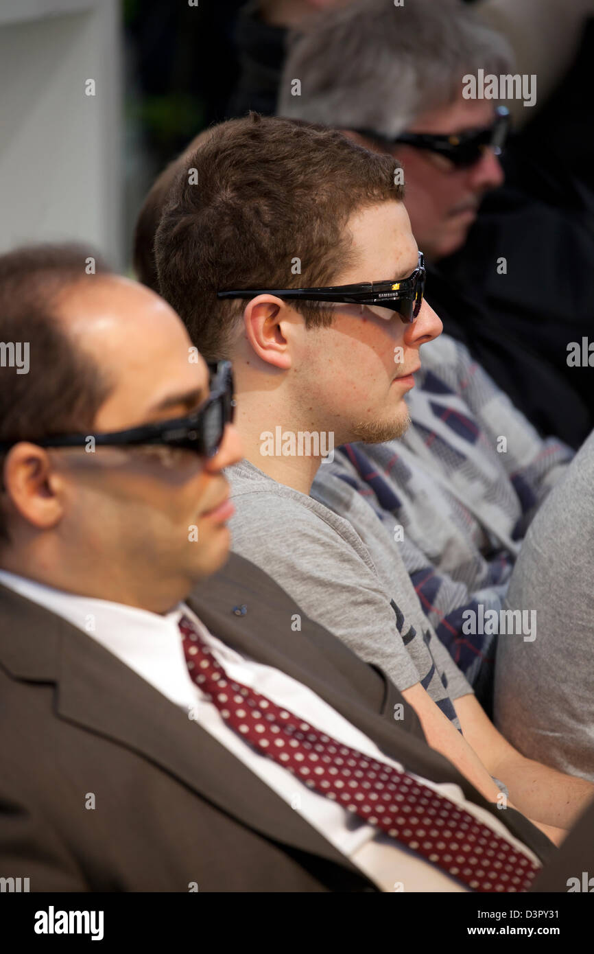 Hannover, Germany, 3-D film at CeBIT - Stock Image