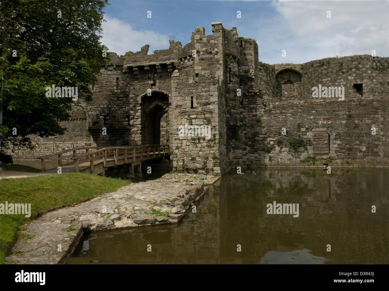 WALES; ANGLESEY; BEAUMARIS CASTLE - Stock Image