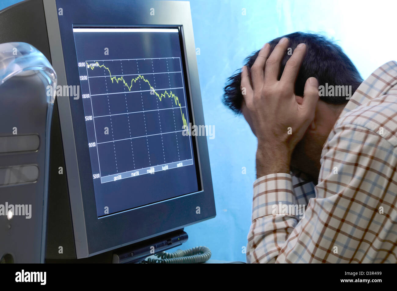 global recession - Stock Image