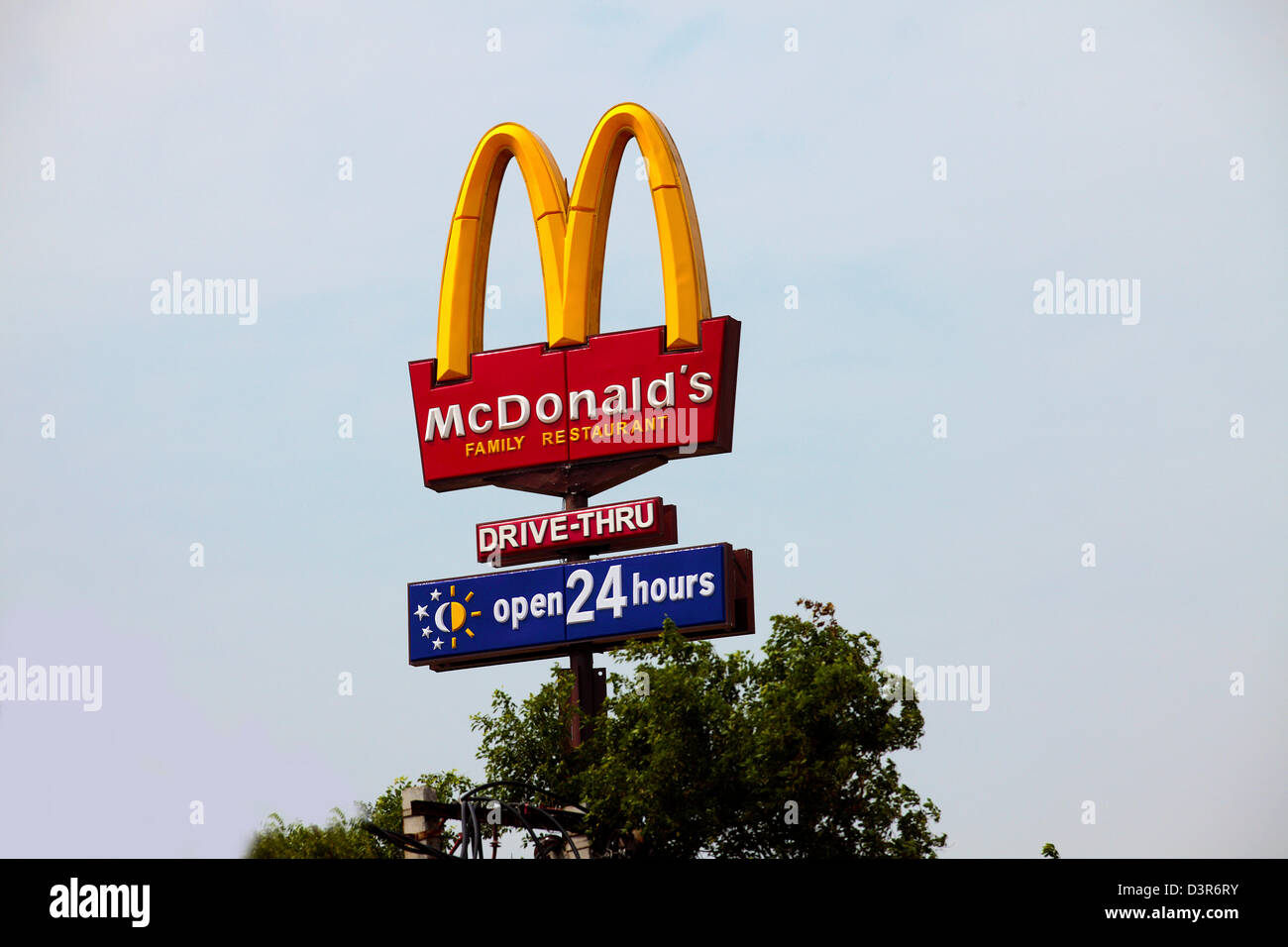 McDonald's Store at a highway - Stock Image