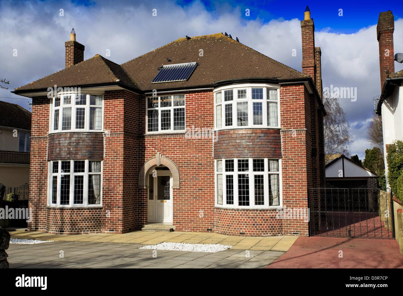 Large brick detached house in Swindon, UK Stock Photo