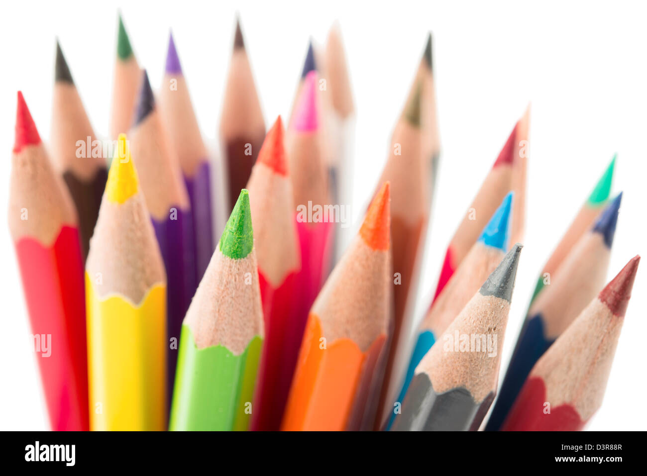 Color pencils, close up . Stock Photo