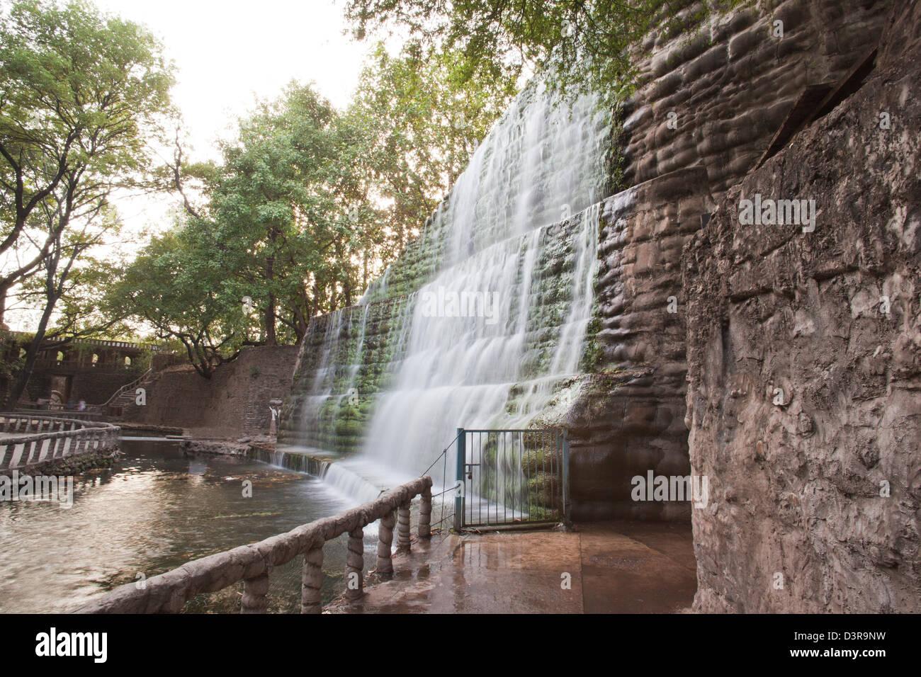 Merveilleux Waterfall At Rock Garden By Nek Chand Saini, Rock Garden Of Chandigarh,  India