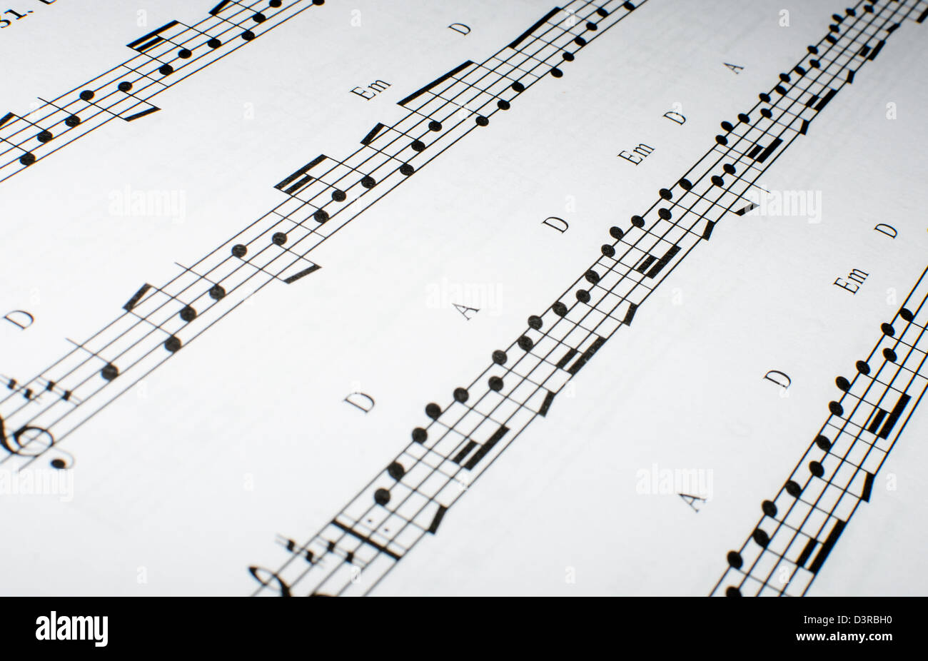 detail  of a note sheet - Stock Image