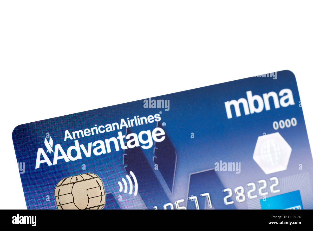 American Airlines AAdvantage branded credit card issued in the UK - Stock Image