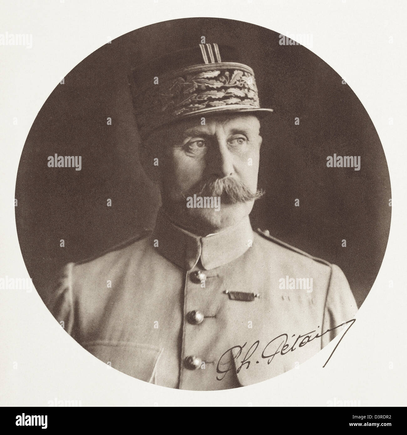 Philippe Petain, First World War General and President of France during the Second World War in the Vichy Government. - Stock Image