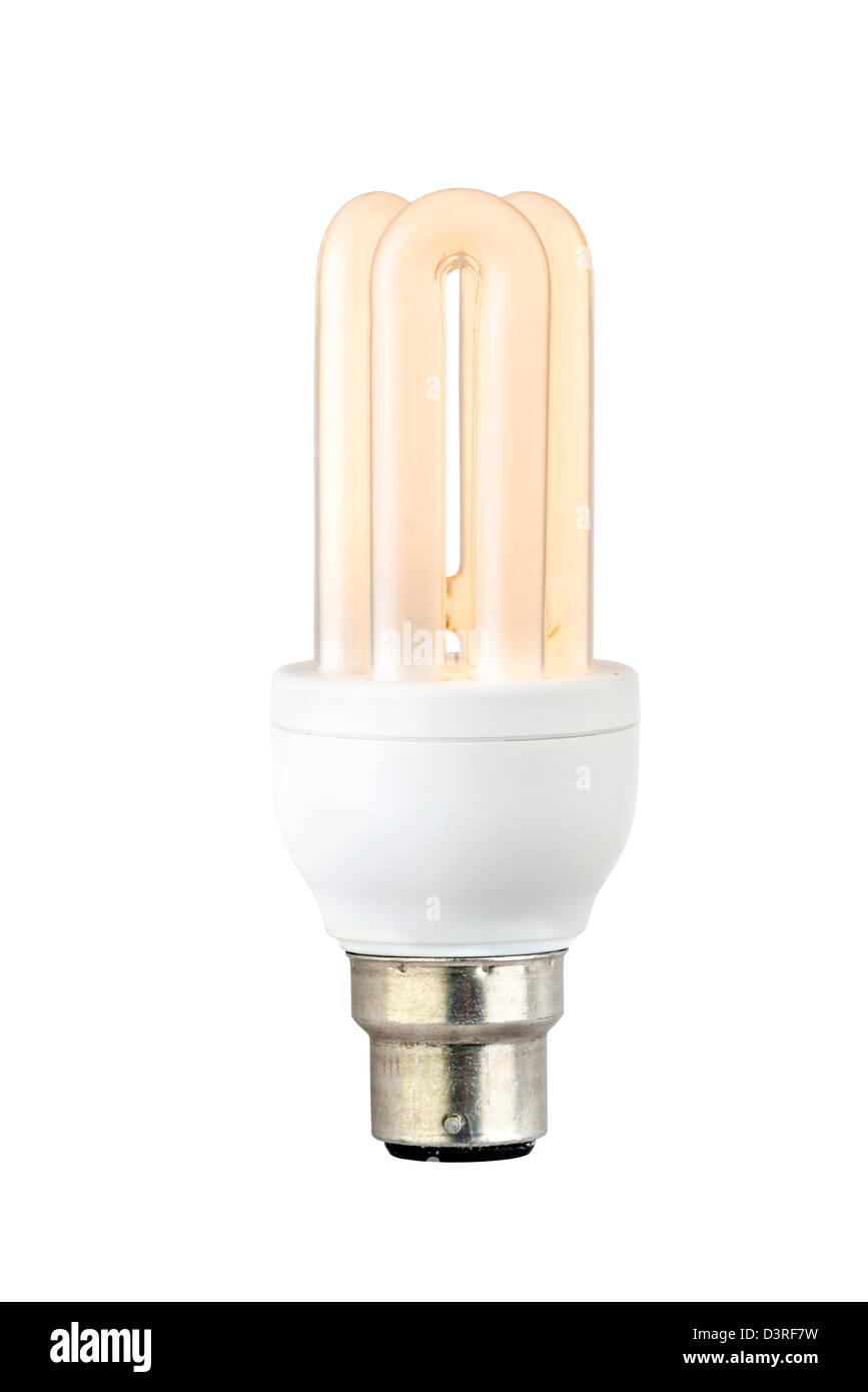 Long Life Energy Saving Lightbulb - Stock Image