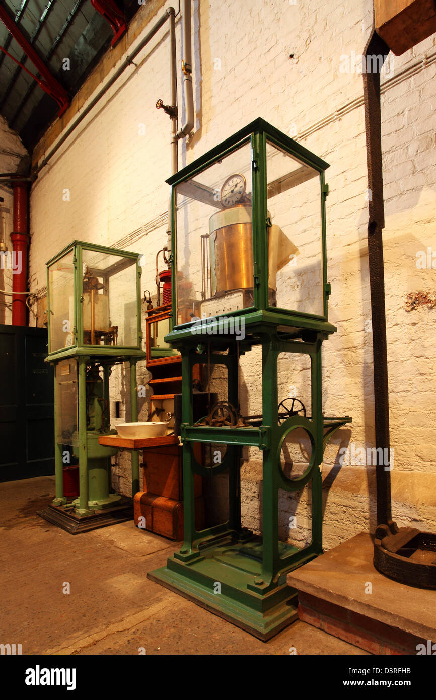 Victorian artefacts at Ryhope Pumping Station in Sunderland, England. - Stock Image
