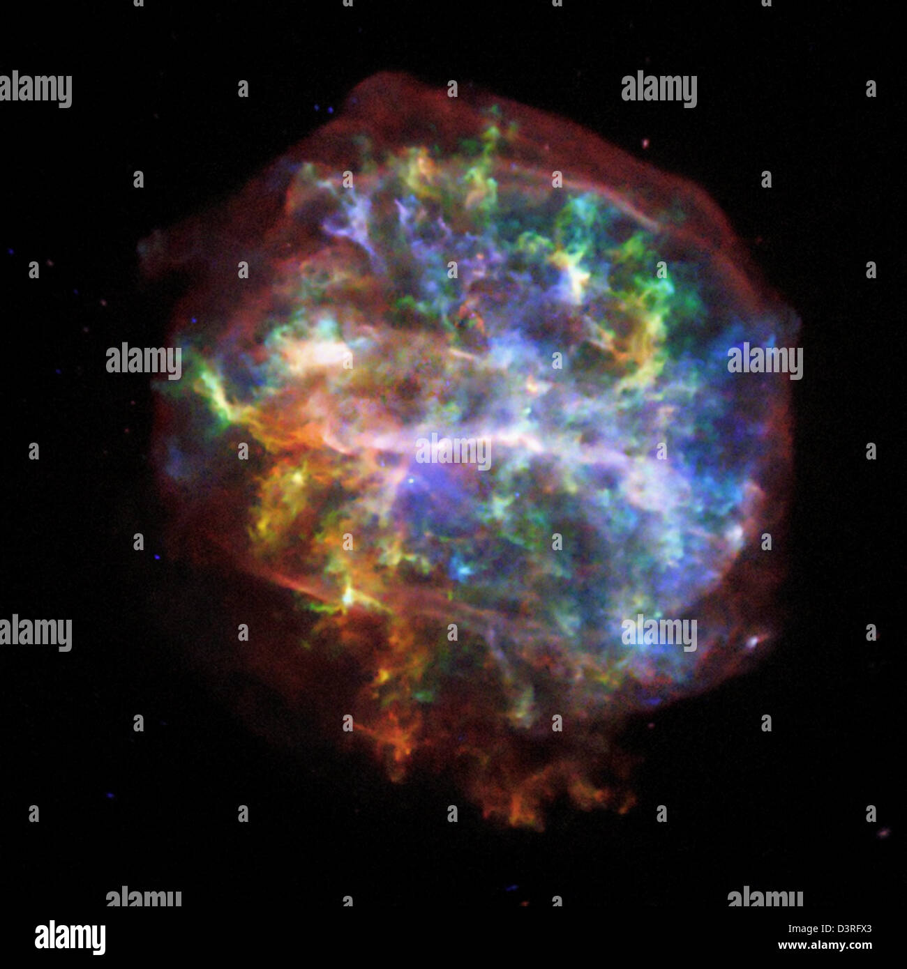 G292.0+1.8: Stellar Forensics with Striking Image from Chandra - Stock Image
