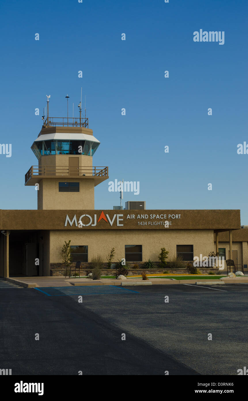 The Mojave airport and spaceport control tower - Stock Image