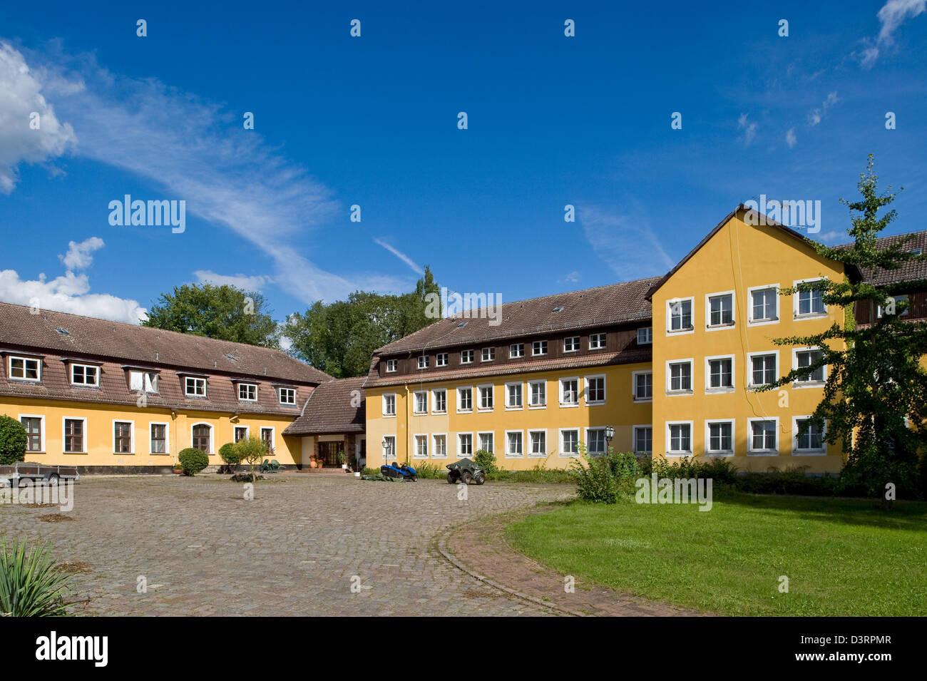 Teupitz, Germany, Castle Teupitz, currently unused - Stock Image