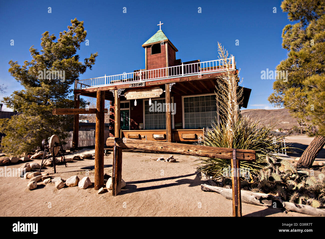 Old West movie set at Pioneertown, California. - Stock Image