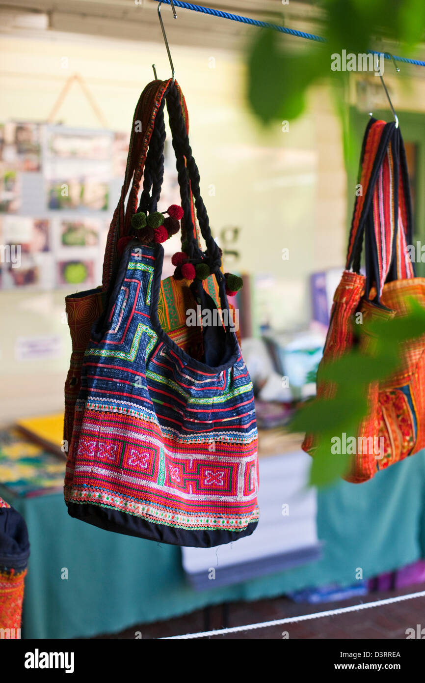 Handicrafts for sale at the Gorman Arts Centre Markets. Canberra, Australian Capital Territory (ACT), Australia - Stock Image