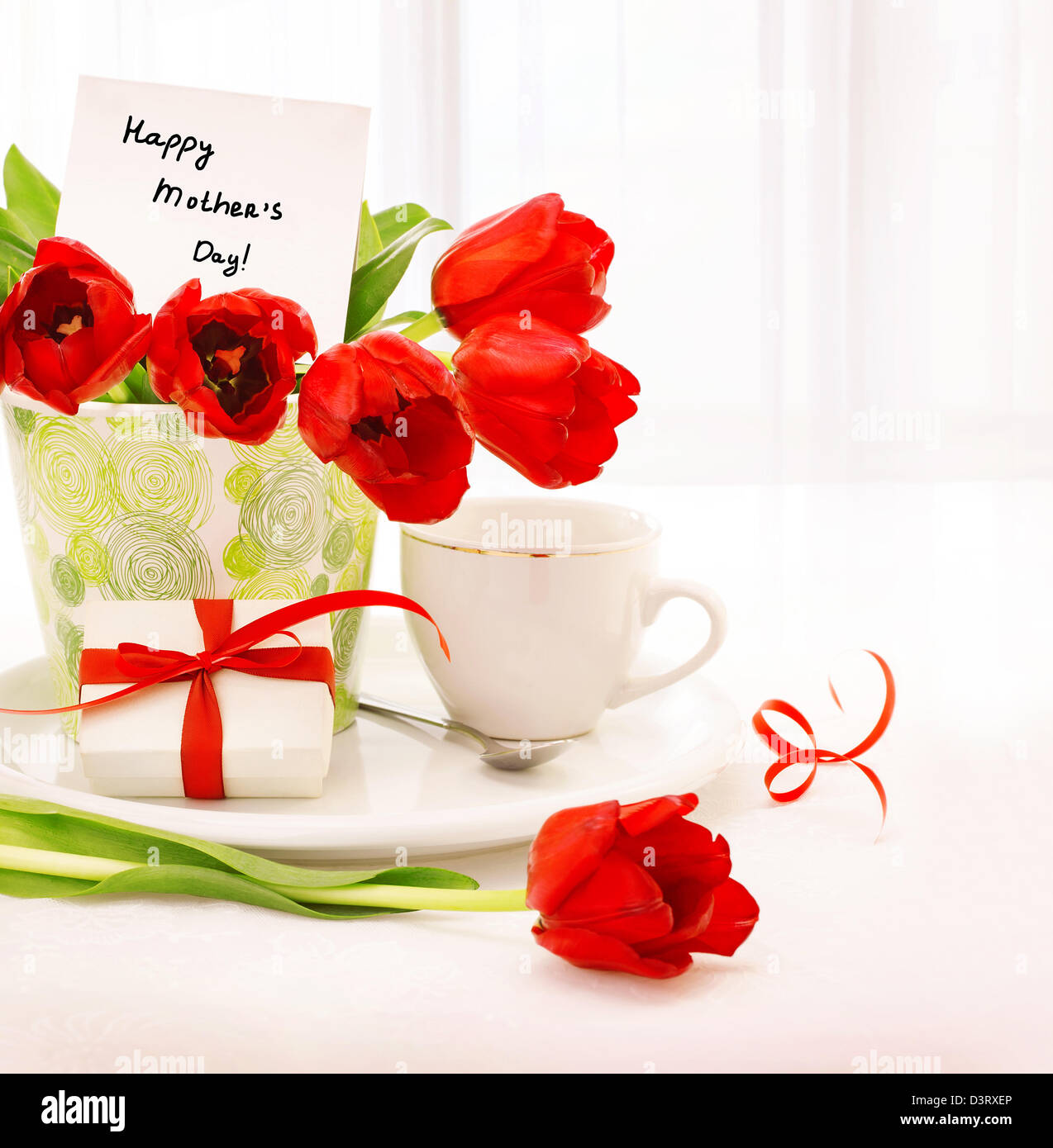 Happy Birthday Card Cup Tea Stock Photos & Happy Birthday Card Cup ...