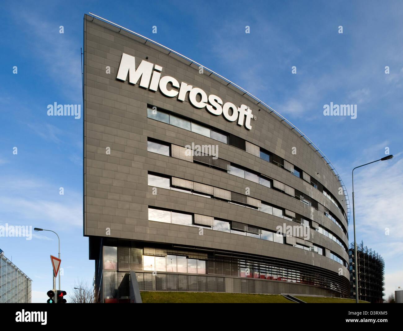 microsoft office company. Prague, Czech Republic, Firmengebaeude Microsoft In Prague - Stock Image Office Company P