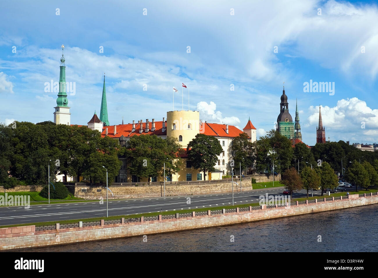Latvian president castle in the Riga city - Stock Image