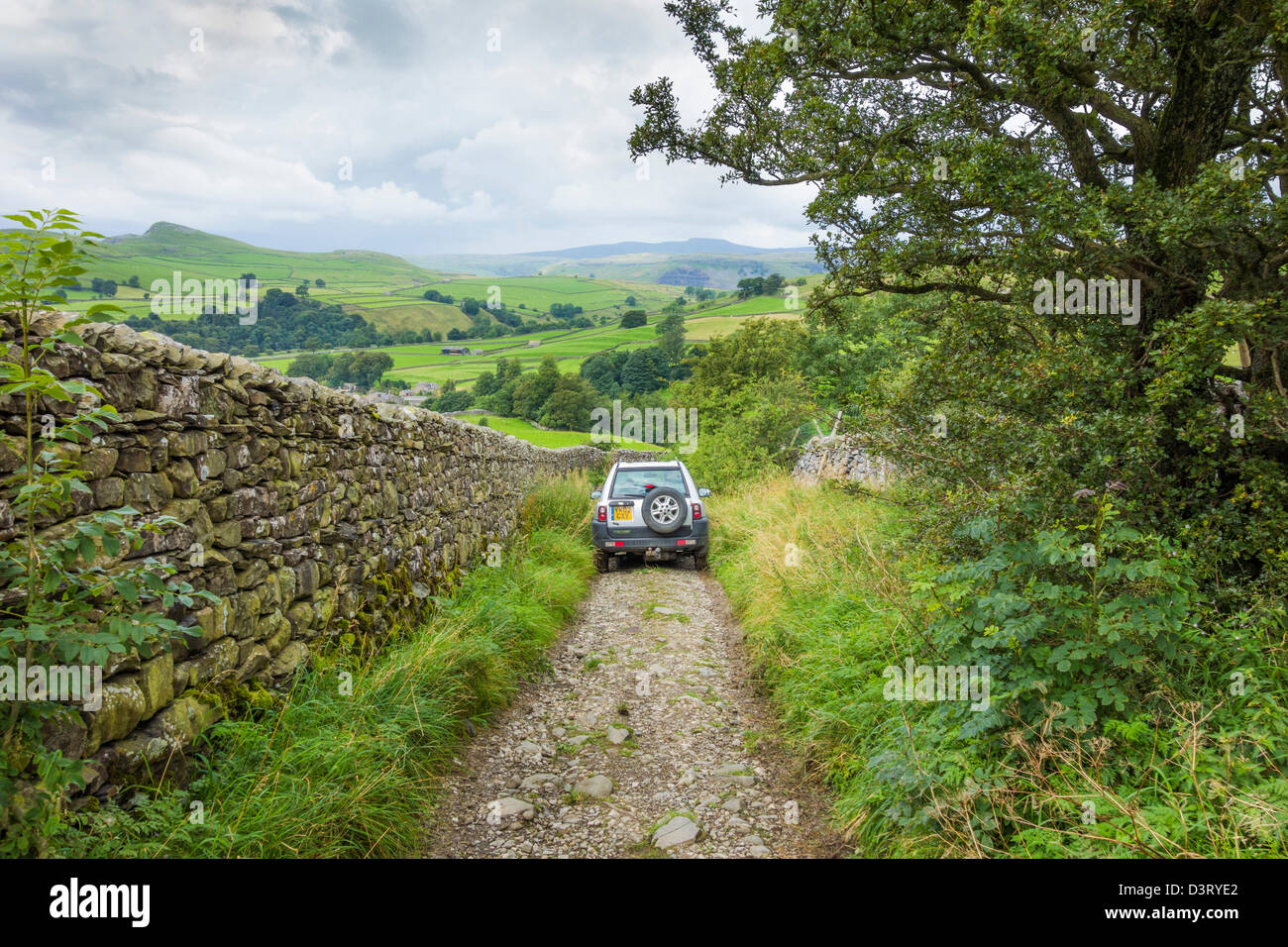 The Pennine Bridleway route near Stainforth in North Yorkshire. - Stock Image