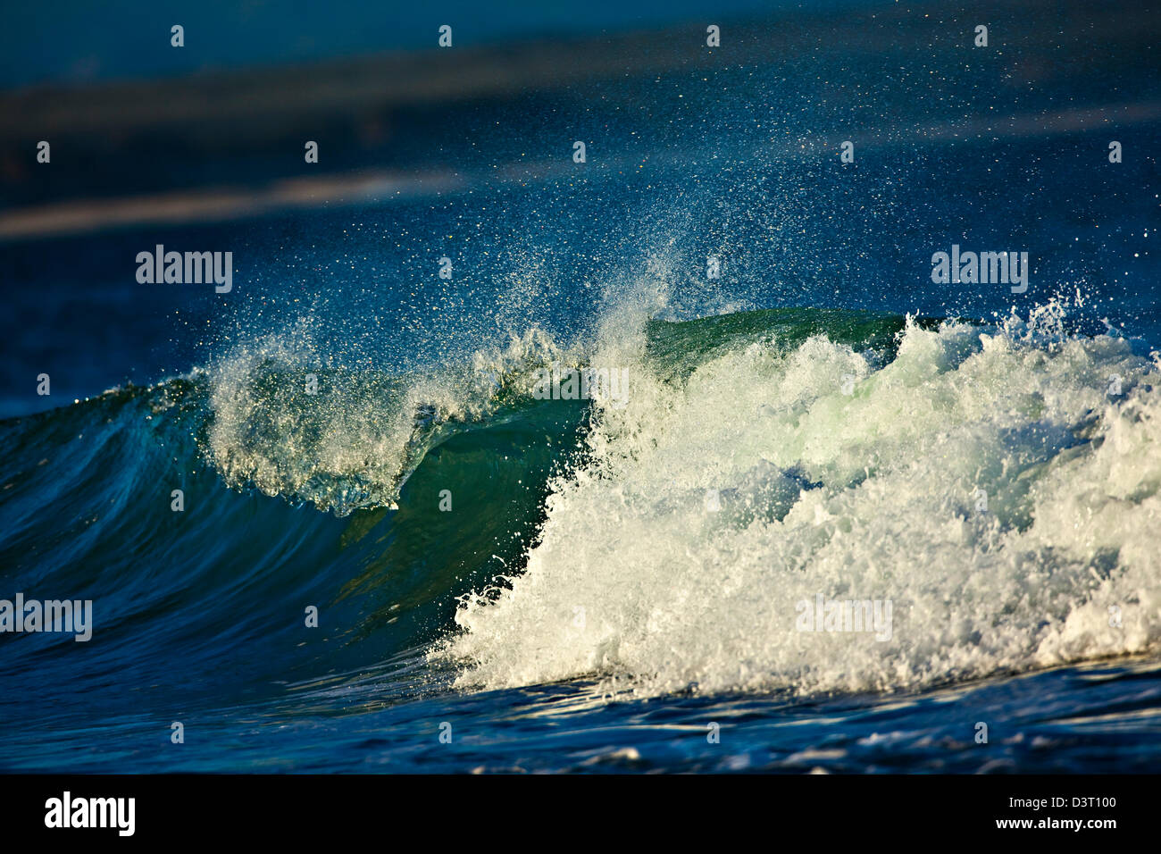 Crashing waves in Jeffreys Bay on the Indian Ocean, South Africa - Stock Image