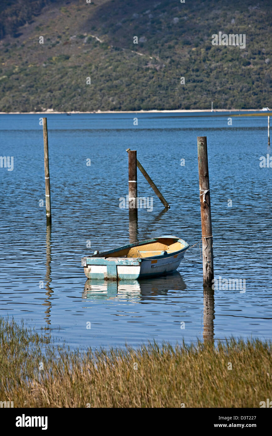 Rowing boat in Featherbed Nature Reserve, Knysna, South Africa - Stock Image