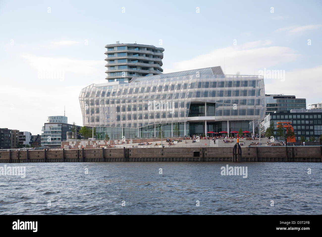 Hamburg, Germany, headquarters of Unilever in HafenCity - Stock Image