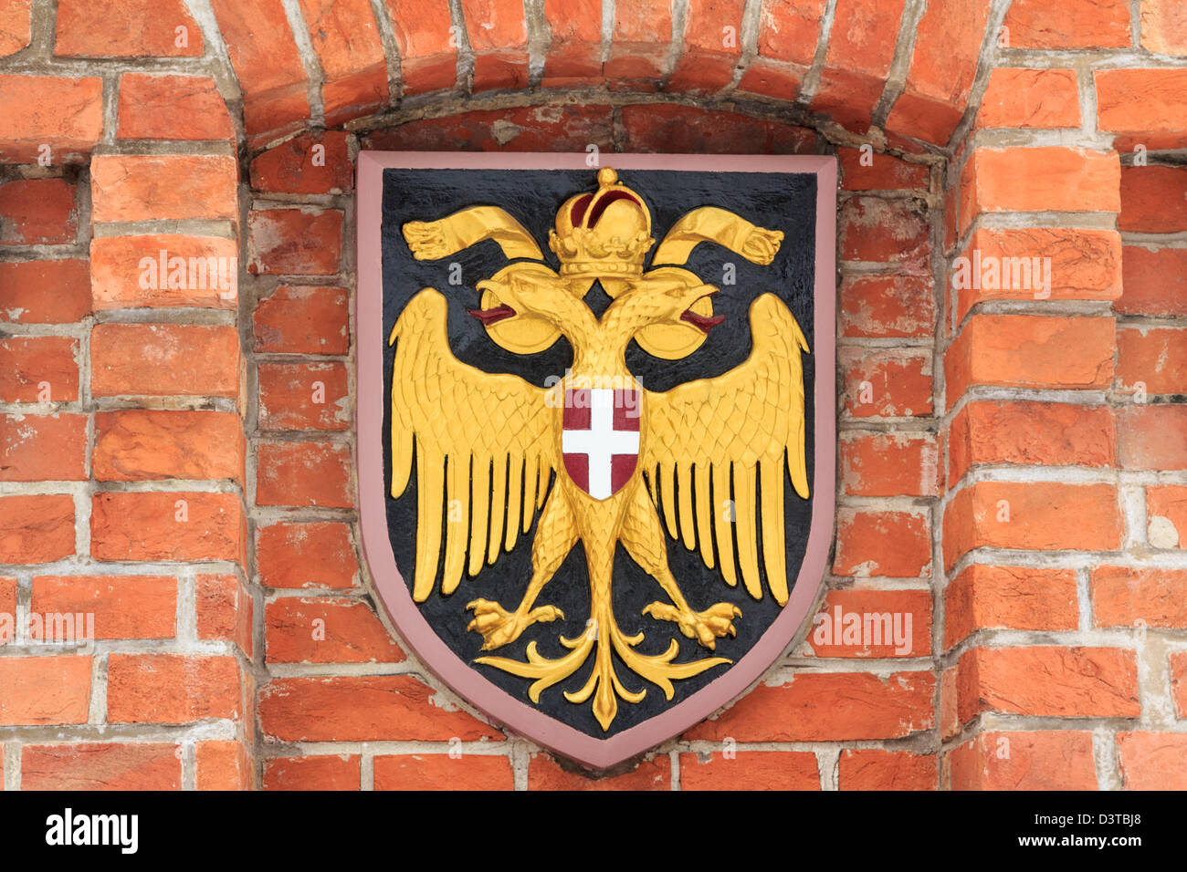 Austrian empire coat of arms: the double headed eagle - Stock Image