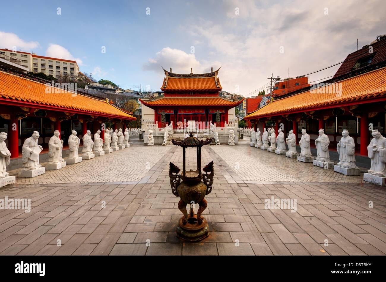 Confucius Shrine in Nagasaki, Japan. - Stock Image