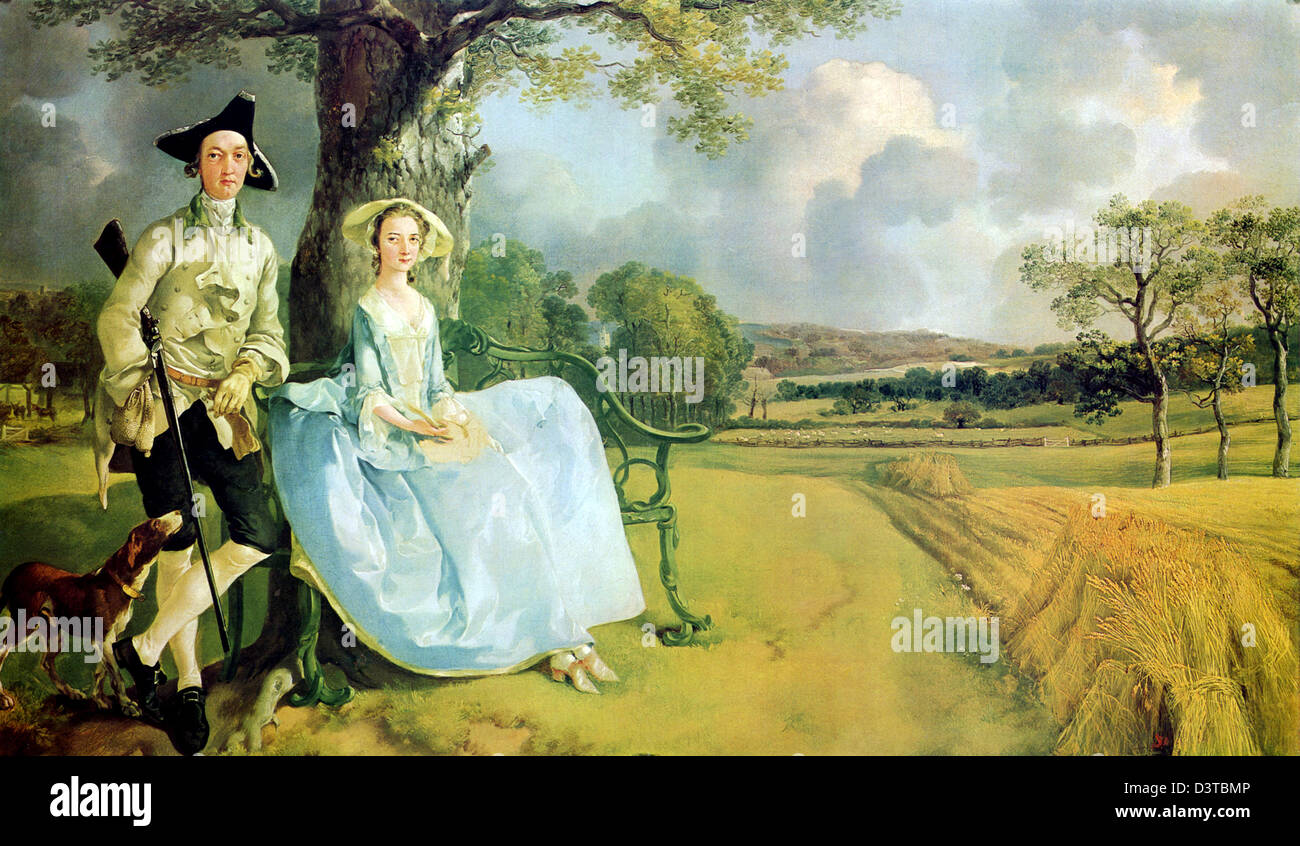 Mr and Mrs Robert Andrews by Thomas Gainsborough - Stock Image