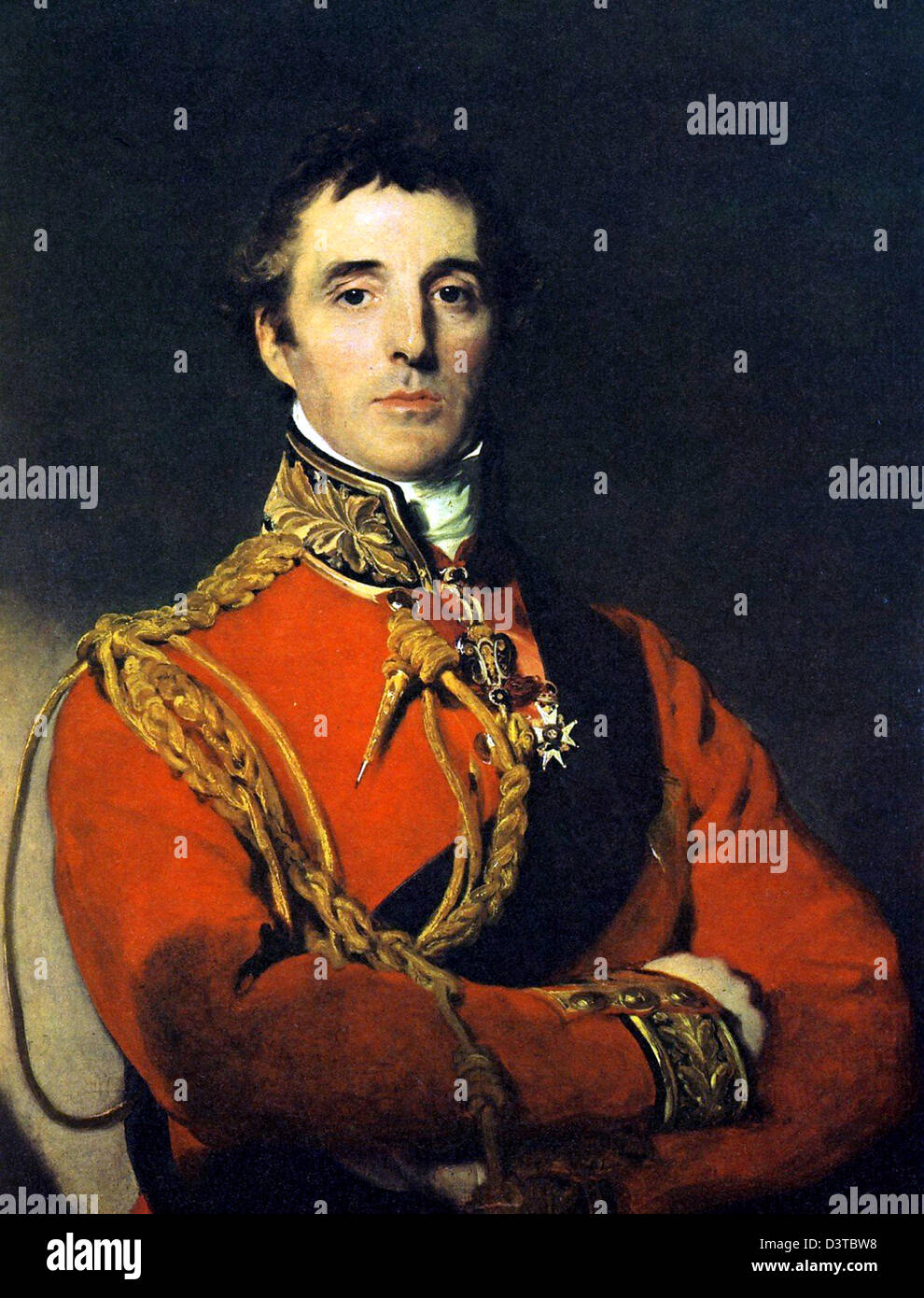 Duke of Wellington, Portrait of Arthur Wellesley, 1st Duke of Wellington and Prime Minister of UK - Stock Image