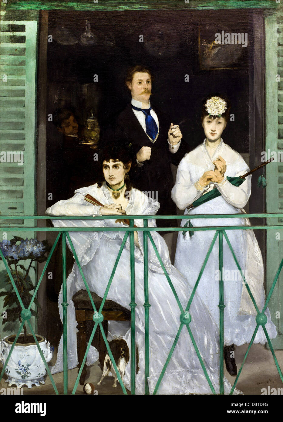 Edouard Manet, The Balcony 1869 Oil on canvas. Musée d'Orsay, Paris - Stock Image
