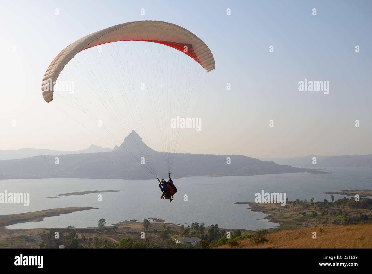 Paragliding - Stock Image