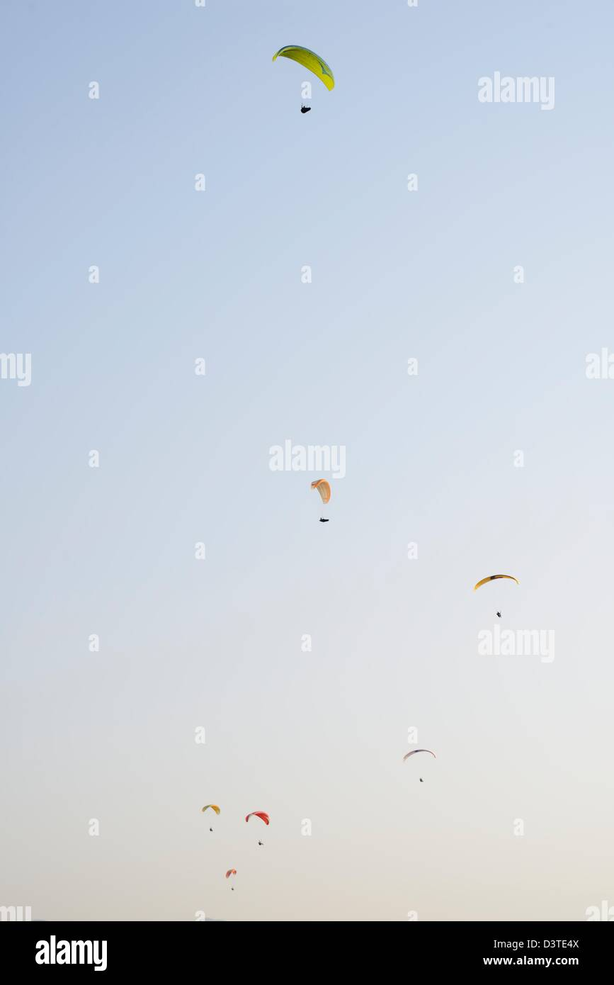 Paragliders - Stock Image