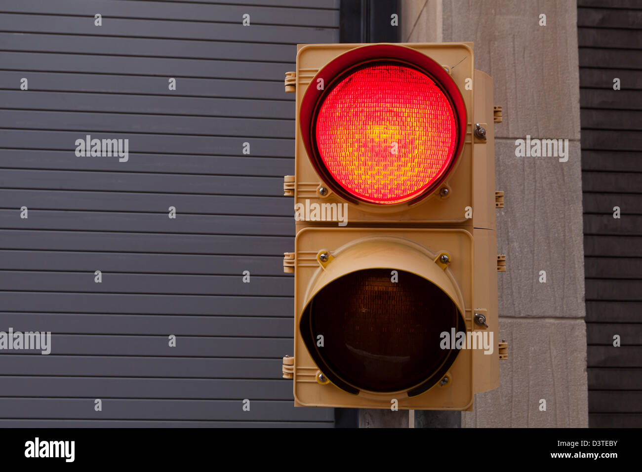Red signal light - Stock Image