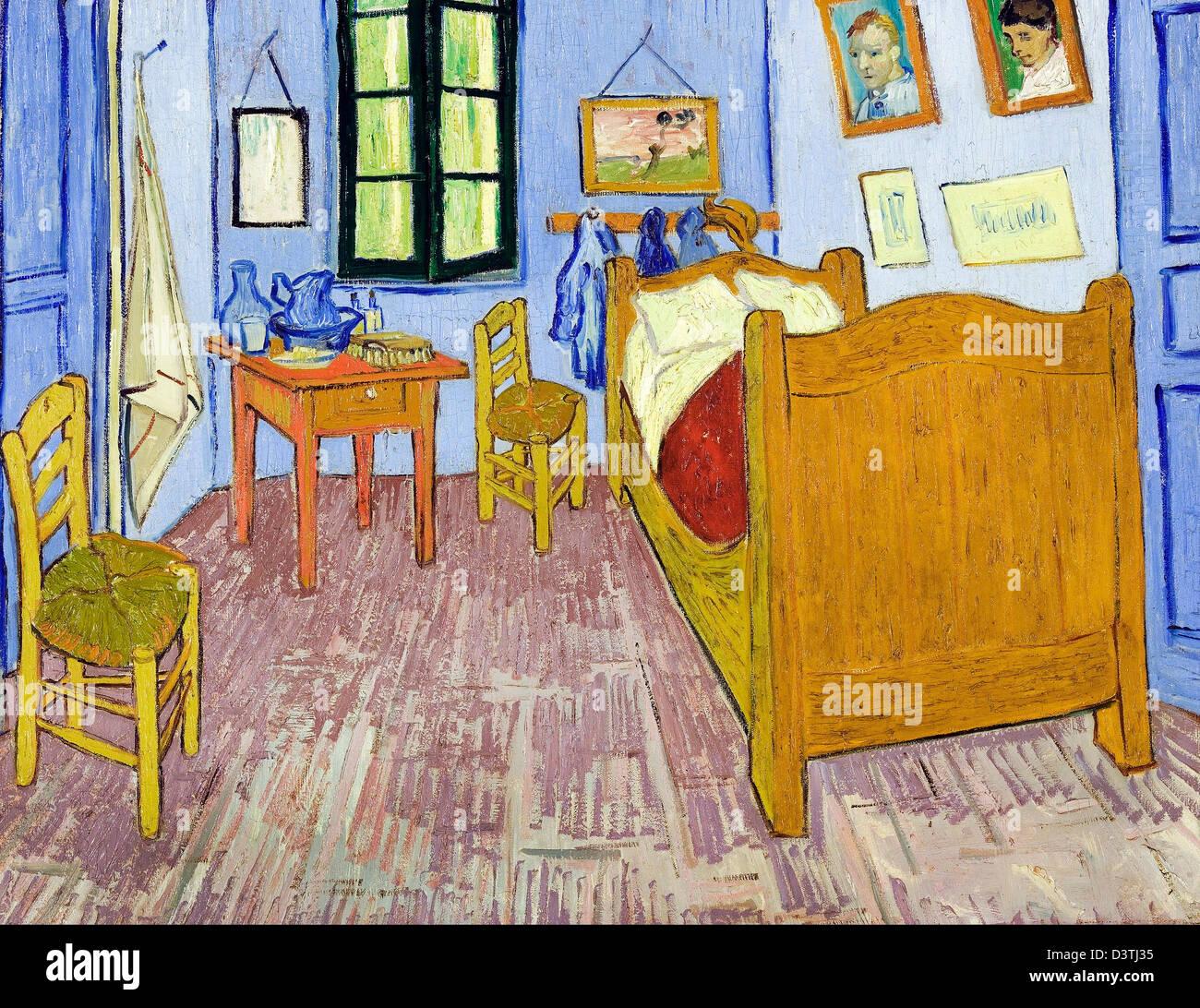 Vincent van Gogh, Van Gogh\'s Bedroom in Arles 1889 Oil on canvas ...