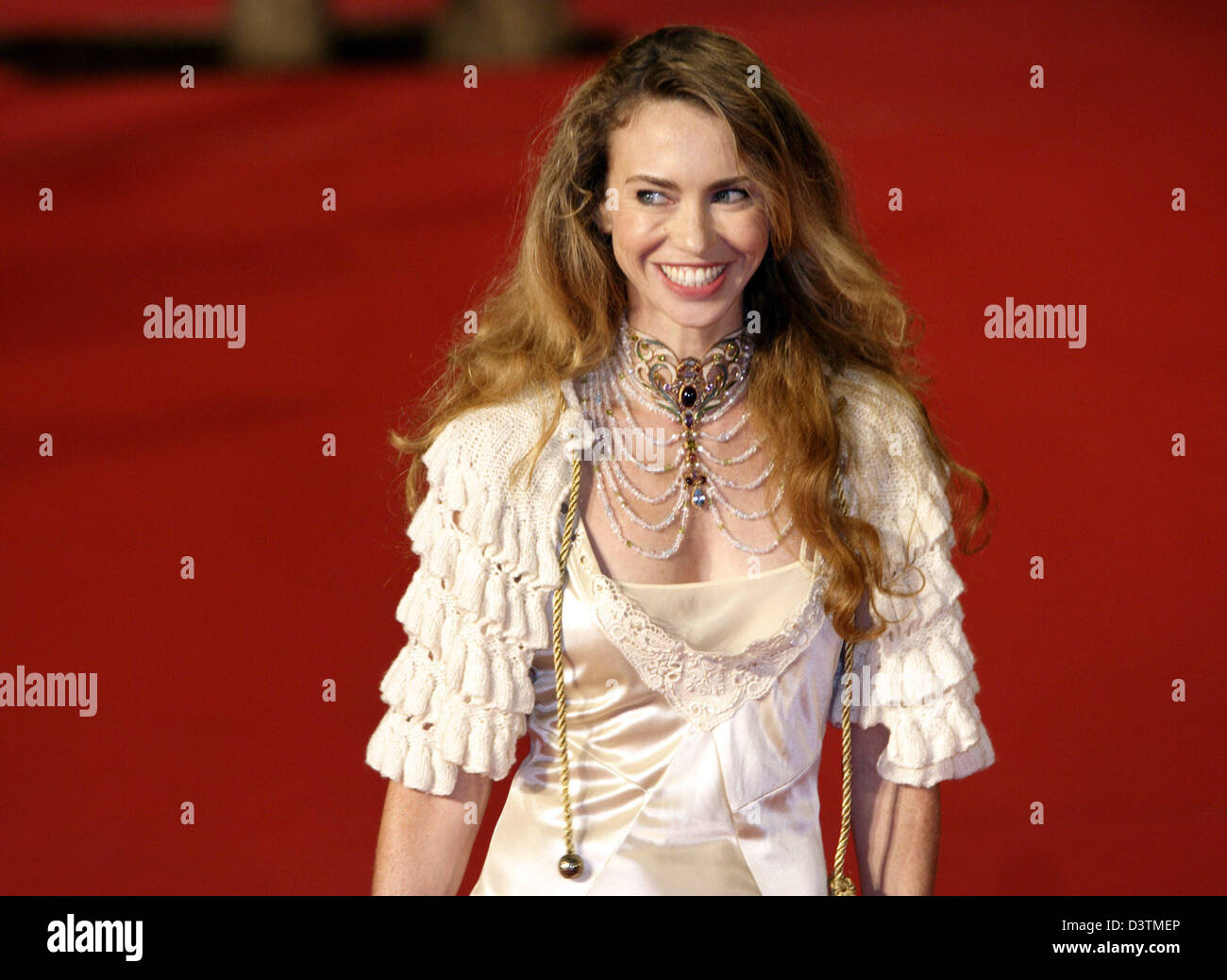 Actress Yvonne Scio poses at the premiere of the movie 'Fur: An Imaginary Portrait of Diane Arbus' at the - Stock Image