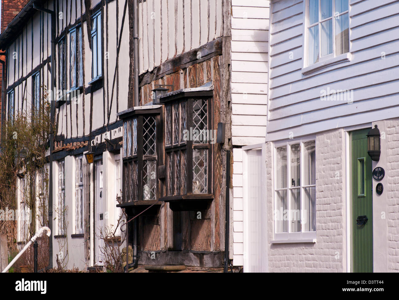 Period Tudor Houses Robertsbridge East Sussex UK - Stock Image