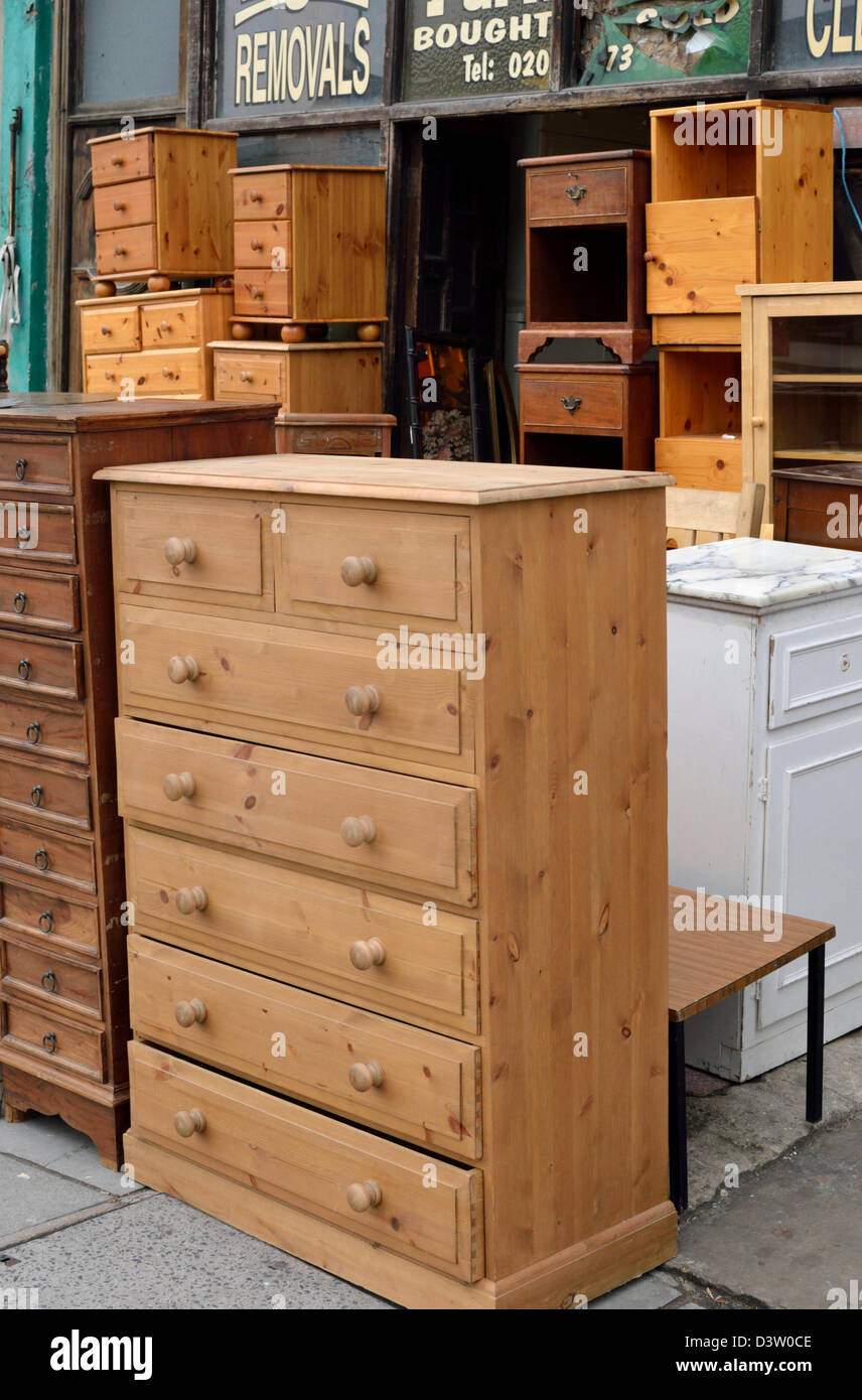 Second Hand Furniture Shop New Cross London Uk Stock Photo