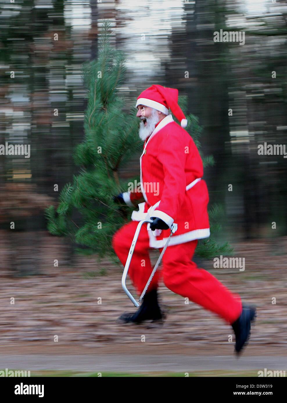 Tour De France 2006 Stock Photos Images Copyright Bicycledesignercom Dressed As Santa Claus German Bicycle Designer Didi Senft Runs With A Pine Tree Aka Christmas