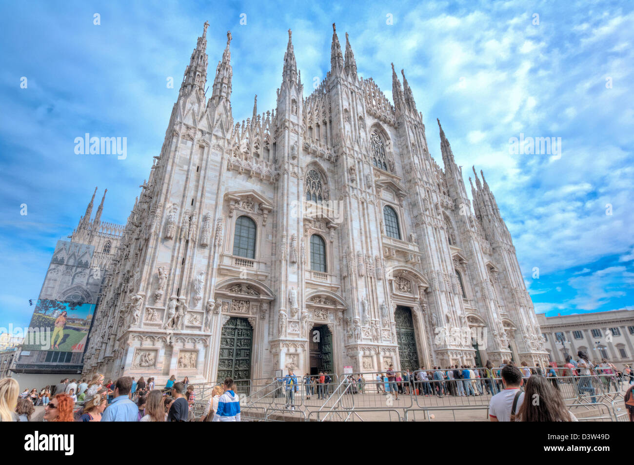 Exterior view of Milan Cathedral - Stock Image