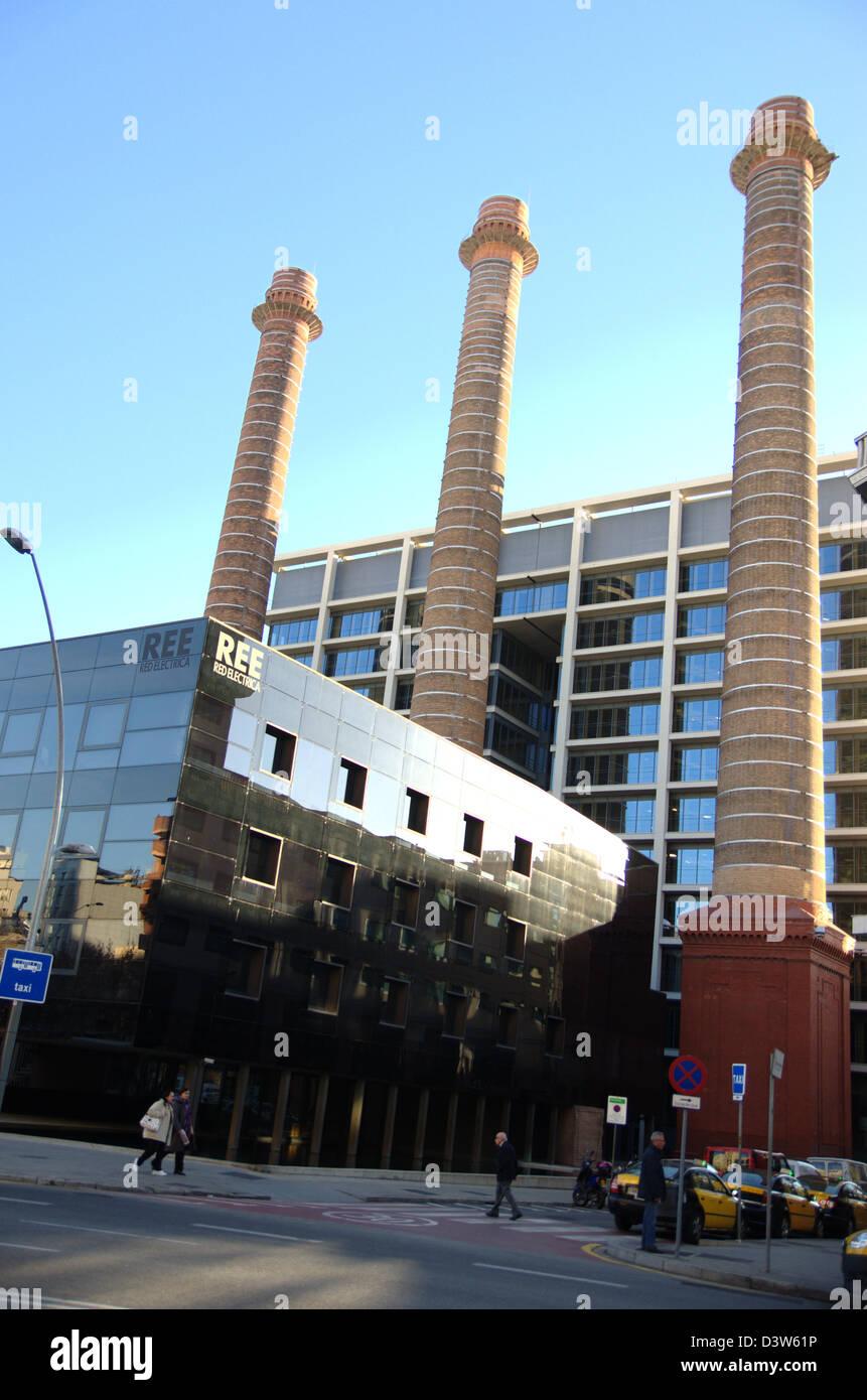 Red Electrica Española REE building in Barcelona. Stock Photo