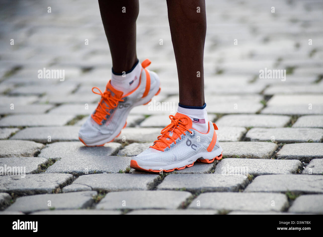 runners feet - Stock Image