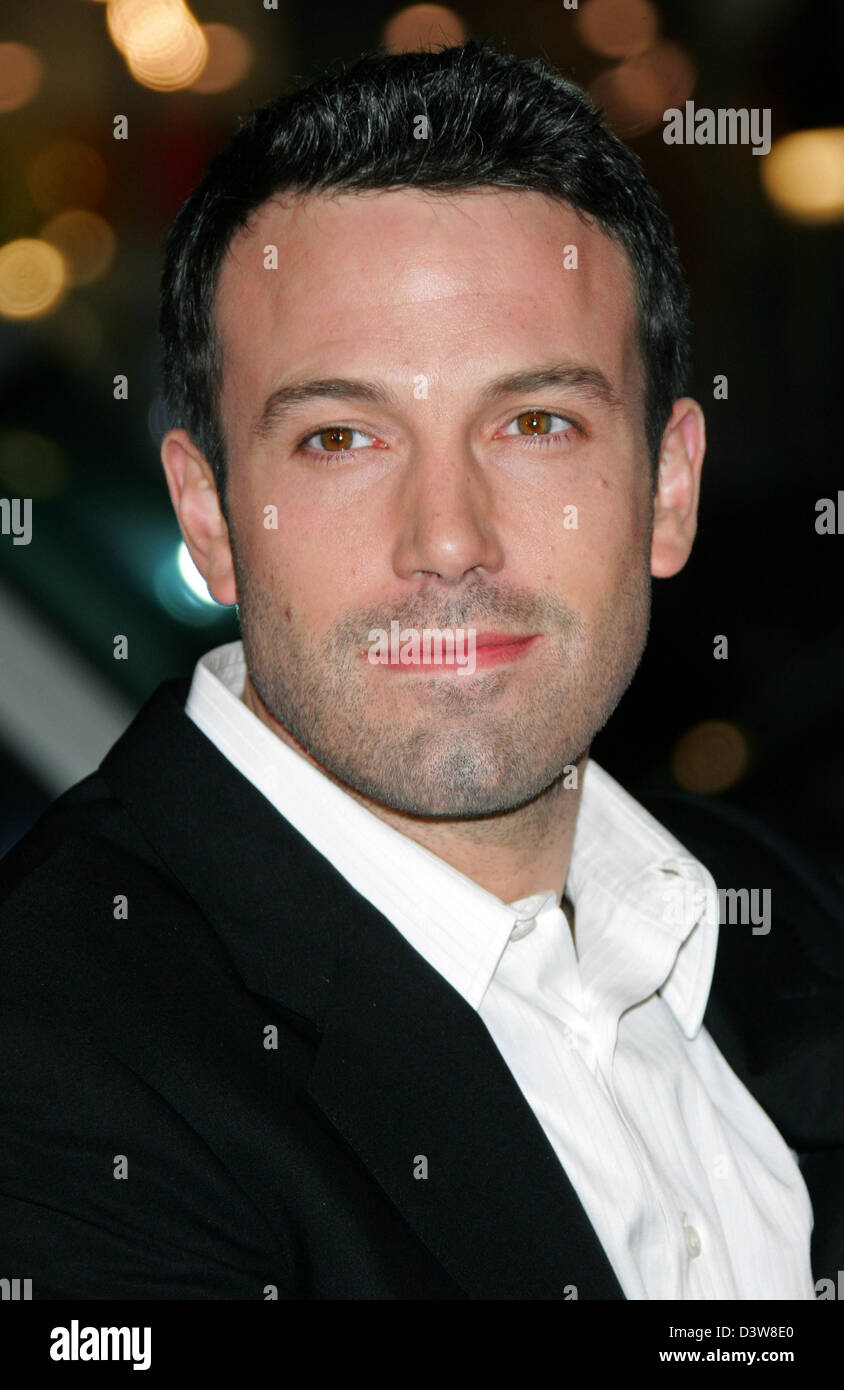 US actor  Ben Affleck arrives to the premiere of his film 'Smokin' Aces' in Hollywood, CA, United States, Thursday, Stock Photo