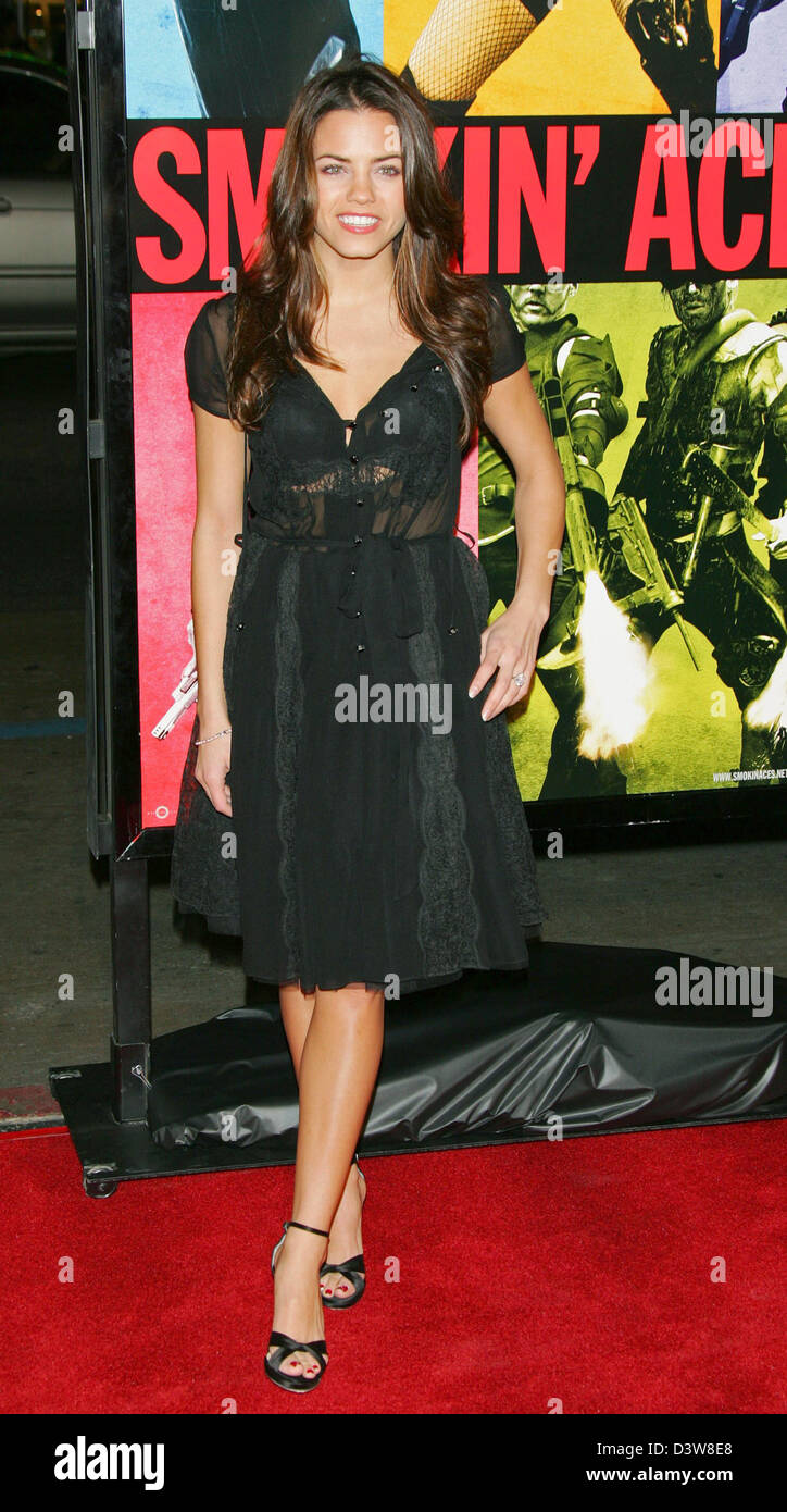 US actress Jenna Dewan arrives to the premiere of the film 'Smokin' Aces' in Hollywood, CA, United States, - Stock Image