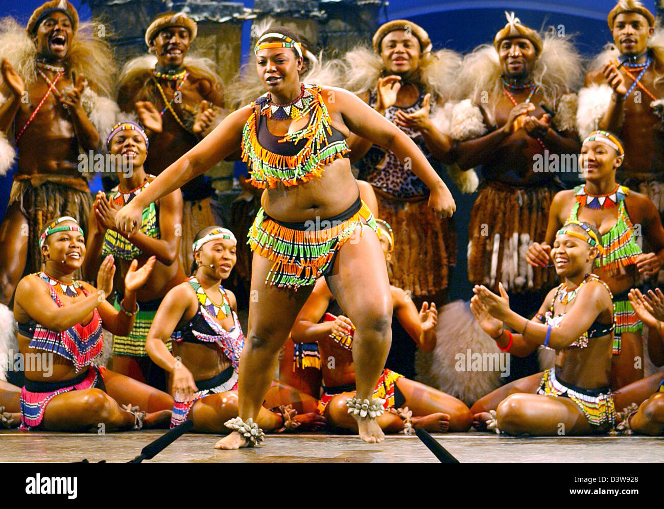 Dancers of the energetic South African show 'UMOJA - The