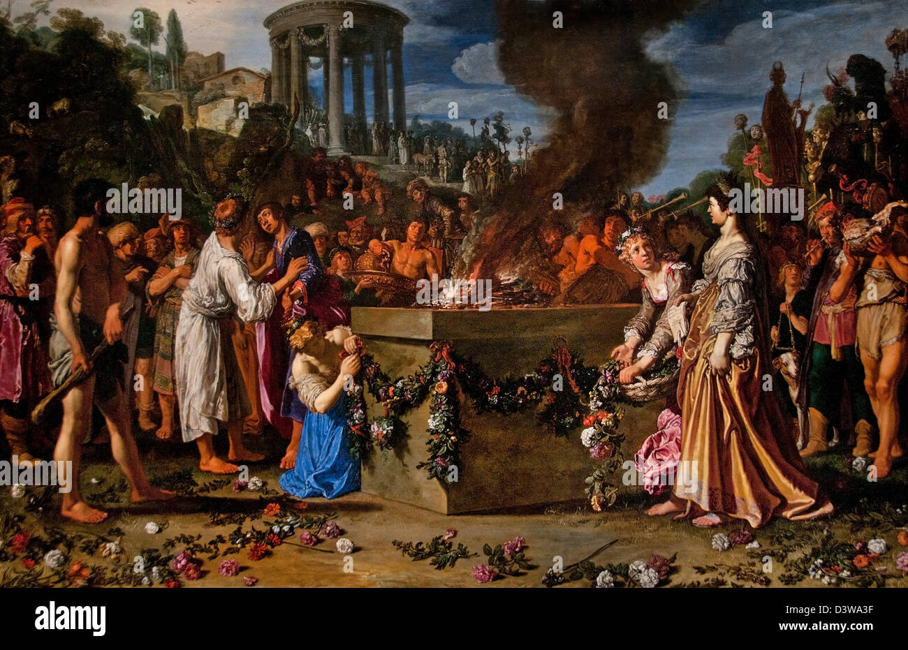 The Dispute between Orestes and Pylades 1614  Pieter Lastman  Dutch Netherlands - Stock Image