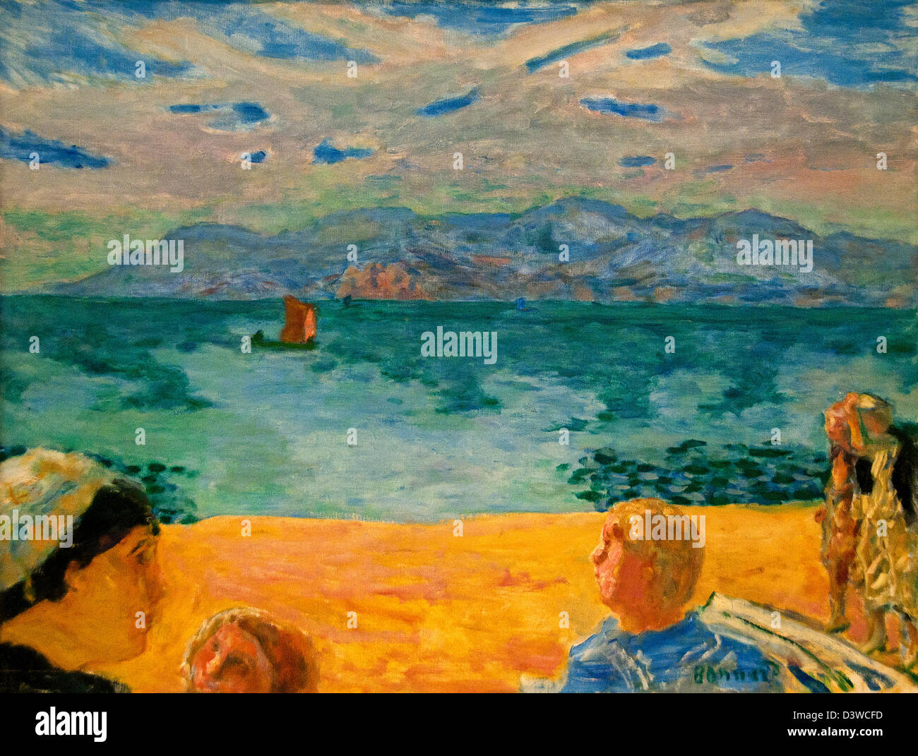 L Esterel 1917 Pierre Bonnard France French - Stock Image