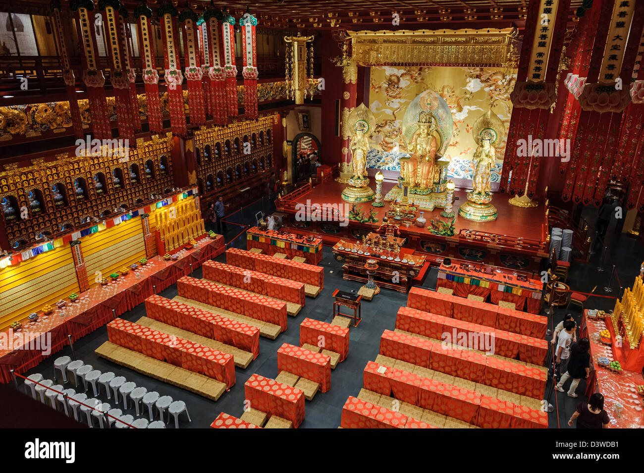 Hall of the Tooth Relic temple, Singapur, Asia - Stock Image