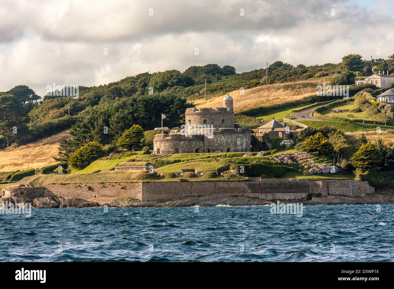 Coastal Defense Artillery Fortresses St Mawes Castle - Stock Image