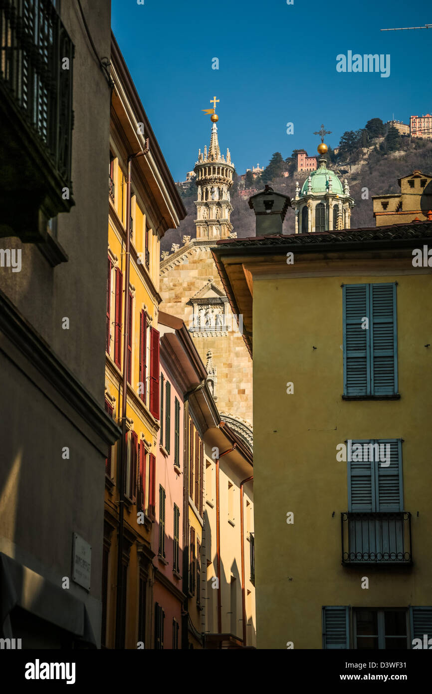 Houses in Como, Italy - Stock Image